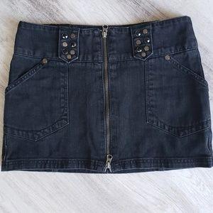 DKNY Jeans Bombshell Studded Mini-Skirt 25 0